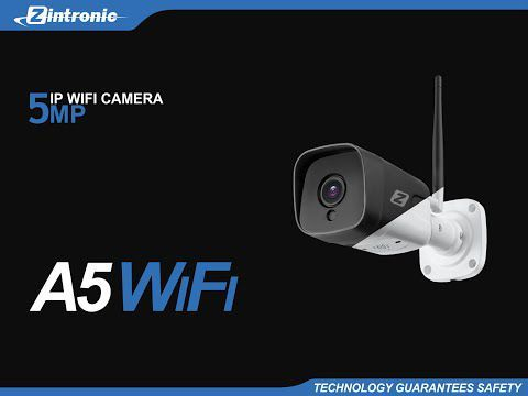 Kamera IP WiFi ZINTRONIC A5 5MP (2.8mm) CZARNA