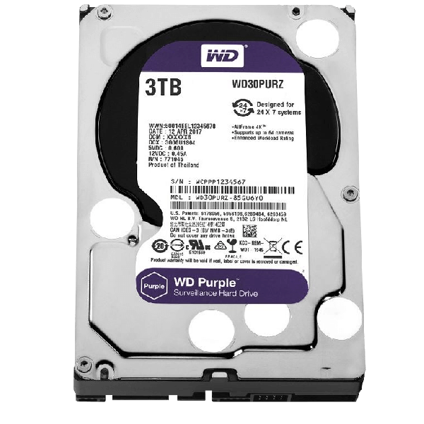 Dysk do rejestratora Western Digital 24/7 3TB ZDWD3TB